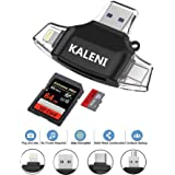 SD Card Reader, USB 3.0 Card Reader for iPhone/iPad/Android/Micro USB/New MacBook/Type C,Lightning Charging Adapter, Supports TF, SD, Micro SD, SDXC, SDHC Memory Card Viewer (Black)