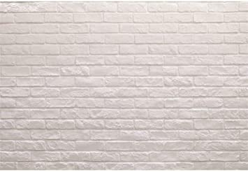 Amazon Com Laeacco 10x8ft Plain White Brick Wall Vinyl
