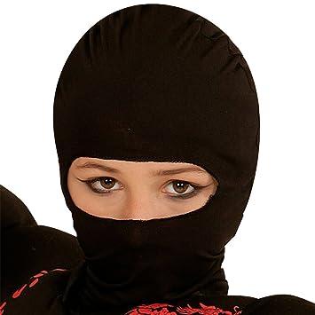 NET TOYS Máscara Infantil Ninja - Negro | Pasamontaña para ...