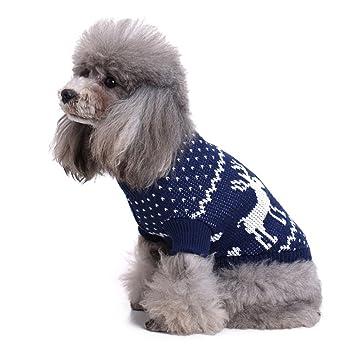 Suéter para mascotas, engrosamiento de tejidos de ciervo Pet Ropa para perros pequeños Cálido chaleco