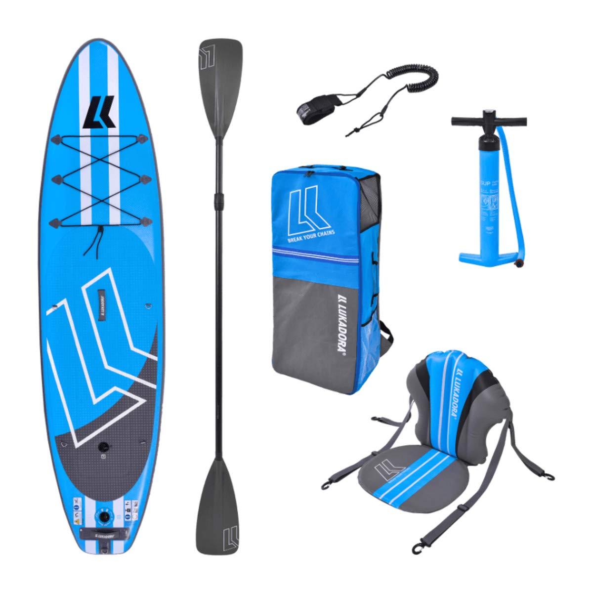 LUKADORA - Juego de Tabla de Paddle Surf, 3 m, para Principiantes ...