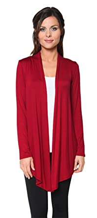 fdf3078896 Free to Live Women s Light Weight Open Front Cardigan Sweater Made in USA  (Small