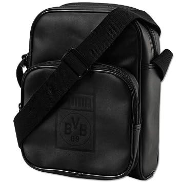 fe20bca34bb0 Puma BVB Reporter Bag Black-Cyber Yellow