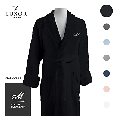 90c2bc0f9c96 Luxor Linens - Terry Cloth Bathrobe in a Variety of Colors - 100% Egyptian  Cotton