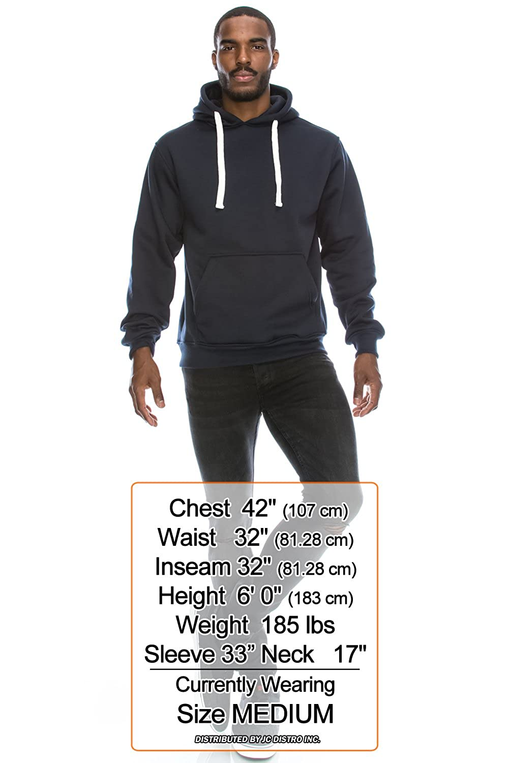 Upto 6XL Plus Mens Hipster Hip Hop Basic Sweatshirts Pullover Hoodie Jacket