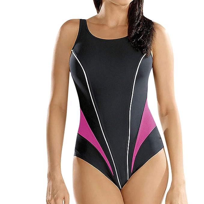 3161e508c65f Empalme Color Mujer Una Pieza Bikini, Resplend Mujeres Sexy Deporte ...