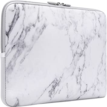 Waterproof Shock Resistant Neoprene Notebook Protective Bag Carrying Case Compatible MacBook Pro//MacBook Air iCasso 13-13.3 inch Laptop Sleeve Bag White Marble