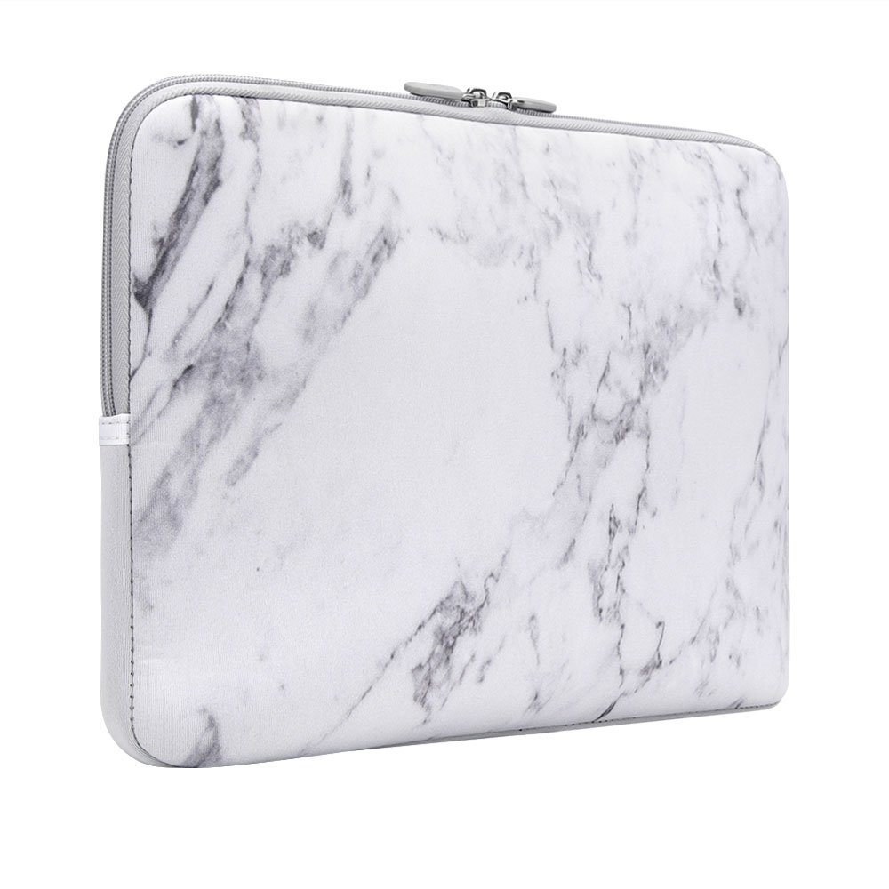 Laptop Sleeve, iCasso 13-Inch Stylish Soft Neoprene Sleeve Case Cover Bag For Macbook Air / Pro / Retina 13 Inch/ iPad Pro(White Marble) by iCasso