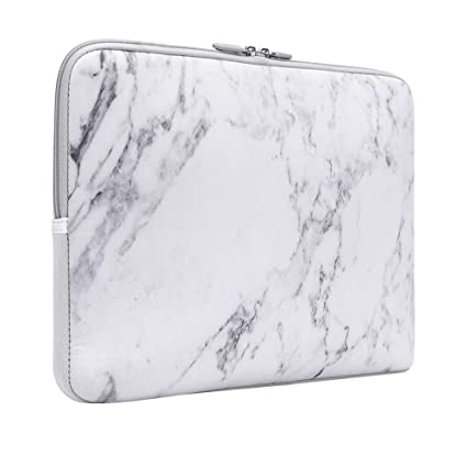 844b2266b0d0 Laptop Sleeve, iCasso 13-Inch Stylish Soft Neoprene Sleeve Case Cover Bag  For Macbook Air / Pro / Retina 13 Inch/ iPad Pro(White Marble)