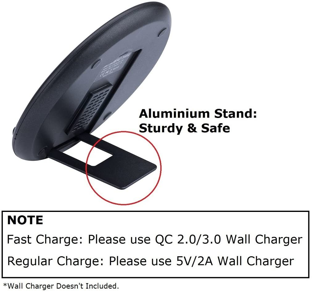 GP 7.5W Wireless Charger Compatible iPhone Xs MAX X //8//8 Plus,10W Fast Wireless Charging for Samsung Galaxy S9//S9 Plus//Note 8// S8//S8 Plus Fast Wireless Charger 2 Pack 5W for All Qi-Enabled Phones