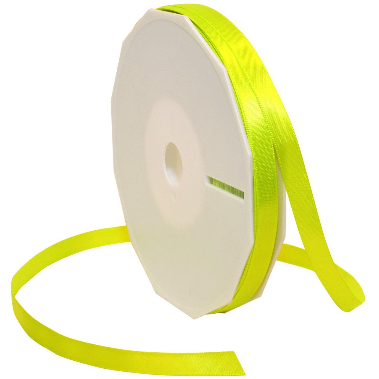 Morex Ribbon Neon Brights Satin, 3/8-inch by 50-yard, Neon Yellow by Morex Ribbon   B00BHCH1B6