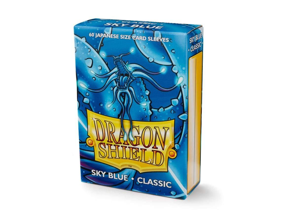 60 Dragon Shield Japanese  Sky Blue Arcane Tinmen Sleeves