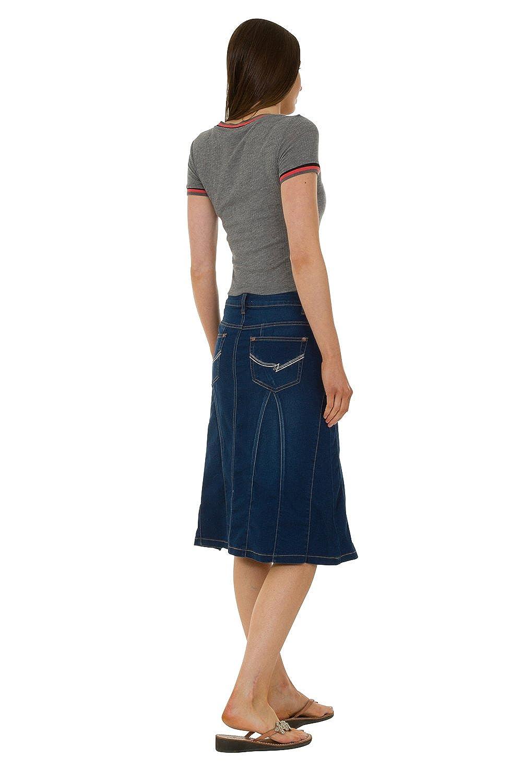 Black Maxi Jean Skirt UK Size10-22 USKEES JESSICA Long Denim Skirt