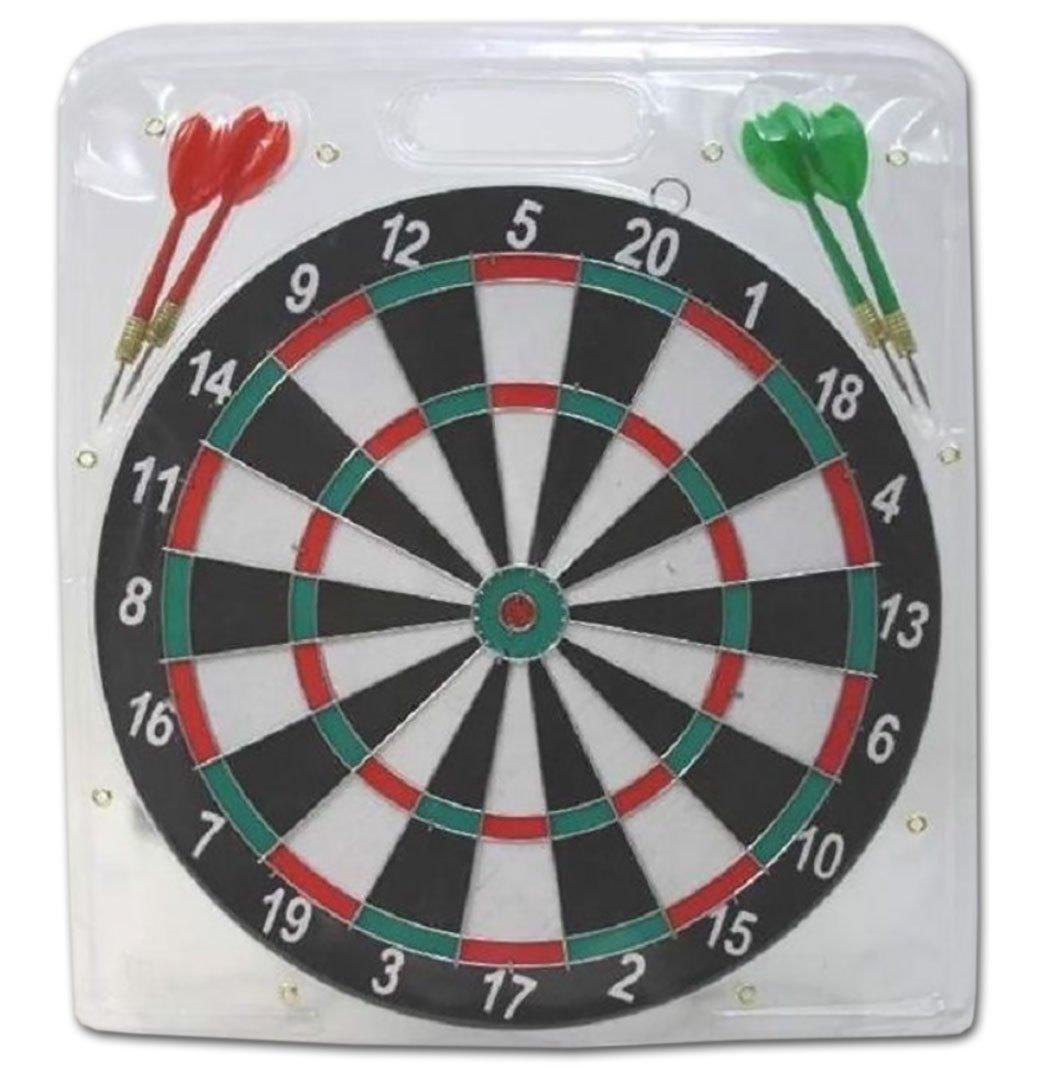 1 x Dartspiel Steel Dart-Board 6 Pfeile Steeldart Wurfscheibe Dartscheibe 29 cm Diverse
