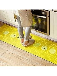 Great Ukeler Non Slip Rubber Backing Kitchen Rugs Yellow Lemon Decorative Floor  Mat Indoor/Outdoor