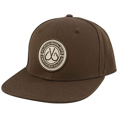 6127567ccbd Amazon.com   Filthy Anglers Fishing Snapback Hat with Flat Brim with ...