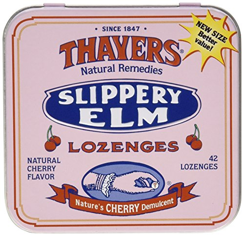 Elm Slippery Cherry - Thayers Slippery Elm Lozenges, Cherry, 42 Count