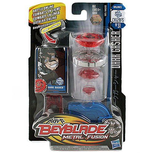 Hasbro Beyblade Metal Fusion High Performance Battle Tops - Balance CH120FS BB31 DARK GASHER with Face Bolt, Gasher Energy Ring, Dark Fusion Wheel, Change Height CH120 Spin Track, Flat Spike (Dark Fusion)