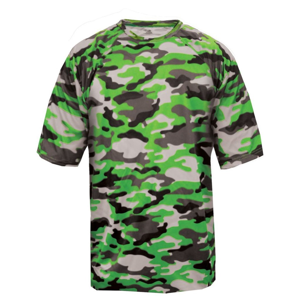 Badger Sport Youth Camouflage Tee (X-Small, Lime Camo) by Badger Sport