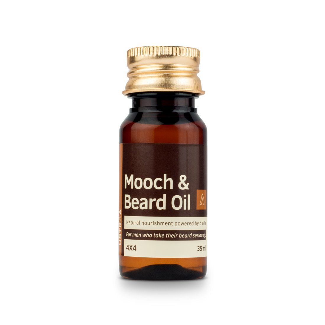 Ustraa Mooch and Beard Oil 4x4 for men - 35 ml