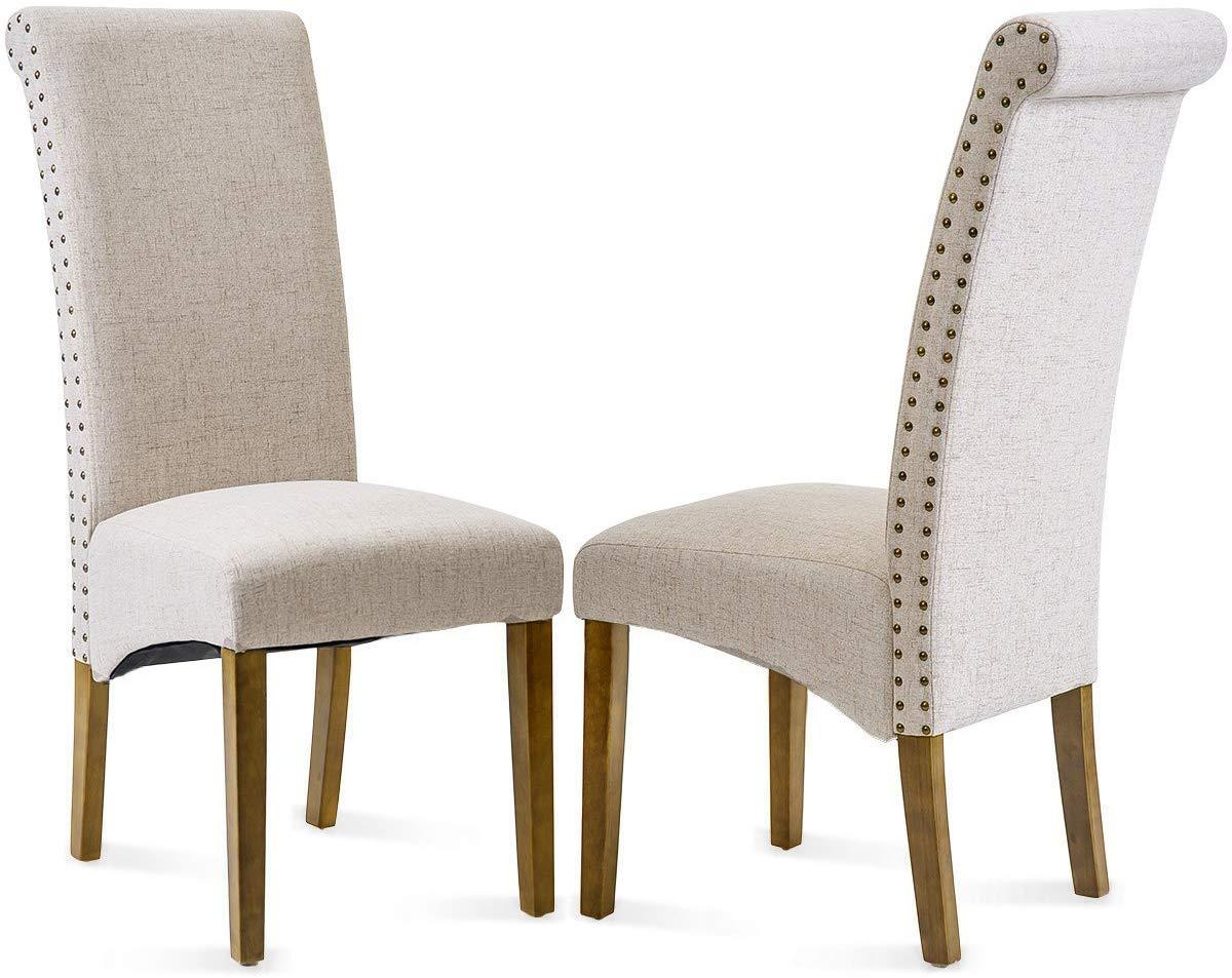Hooseng Set of 2 HOSSENG Dining Chair, (Beige) by Hooseng