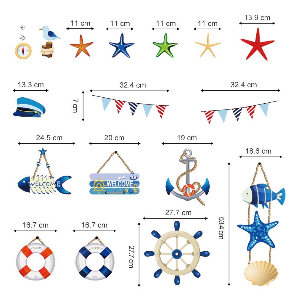 Sticker déco Dauphins Réf 534-16 dimensions