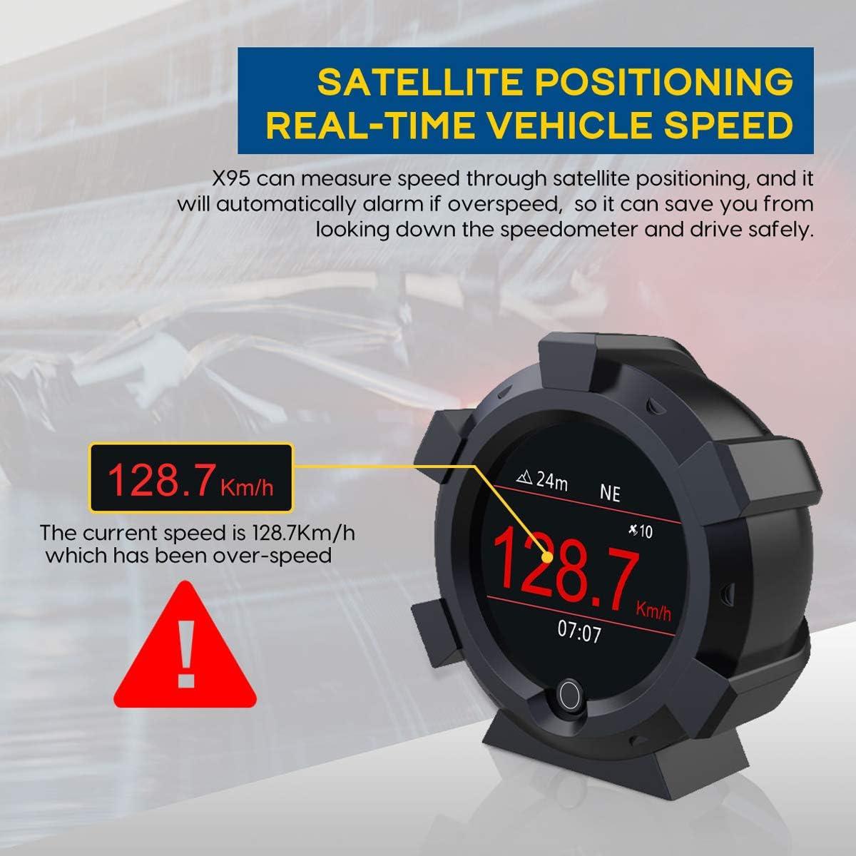 AUTOOL X95 Multifunctional GPS Slope Meter 3.5 Car GPS Head Up Display HUD Digital Inclinometer Slope Meter with Multifunctional Function for All DC5-28V Car