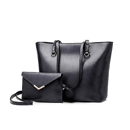 937fd4f7e99b Amazon.com  Usbagtech Women Leather Shoulder Tote Handbags Designer Hobo  Bag Messenger Purse With Removable Wallet  Shoes