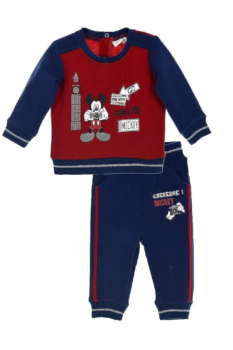 Mickey Mouse Baby Jungen (0-24 Monate) Sweatanzug 24247