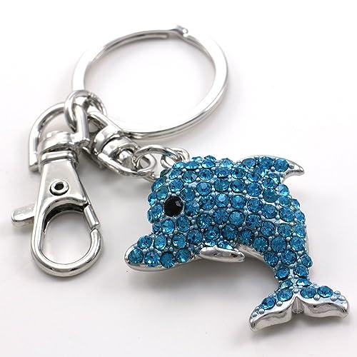 Amazon.com: Cute Aqua Delfín Azul Amante de los animales ...