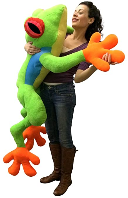 Amazon Com Giant Stuffed Realistic Frog 4 Feet Big Plush Treefrog