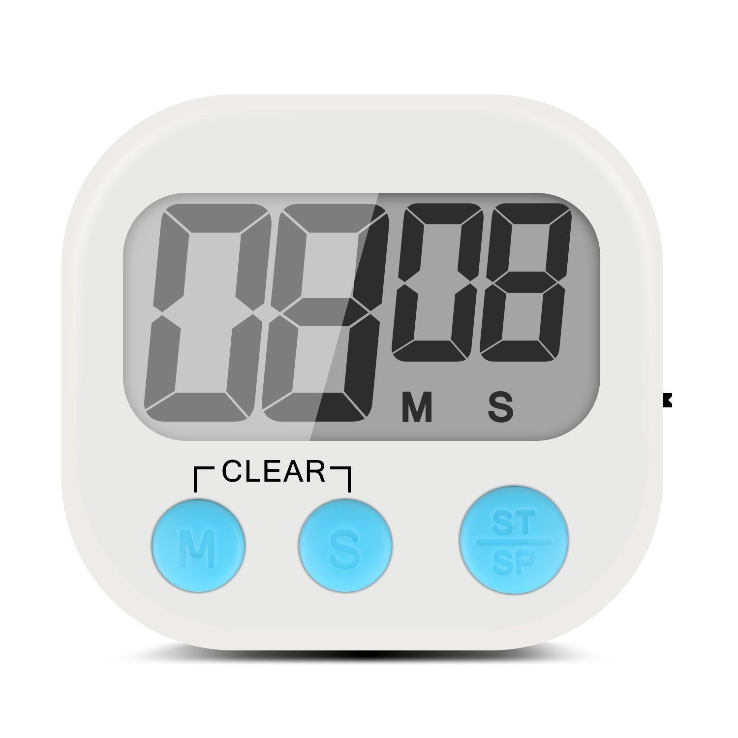 Digital Timer and Stopwatch, Large LCD Display, Auto Shut Off, Magnetic Back, Table Stand, Hanging Hook, Battery Included SNT SN190