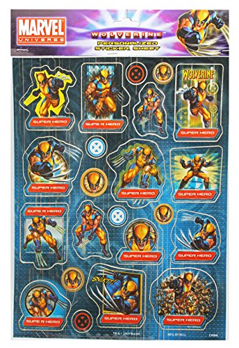 Marvel's X-Men Classic Wolverine Assorted Sticker Set (22 Stickers)