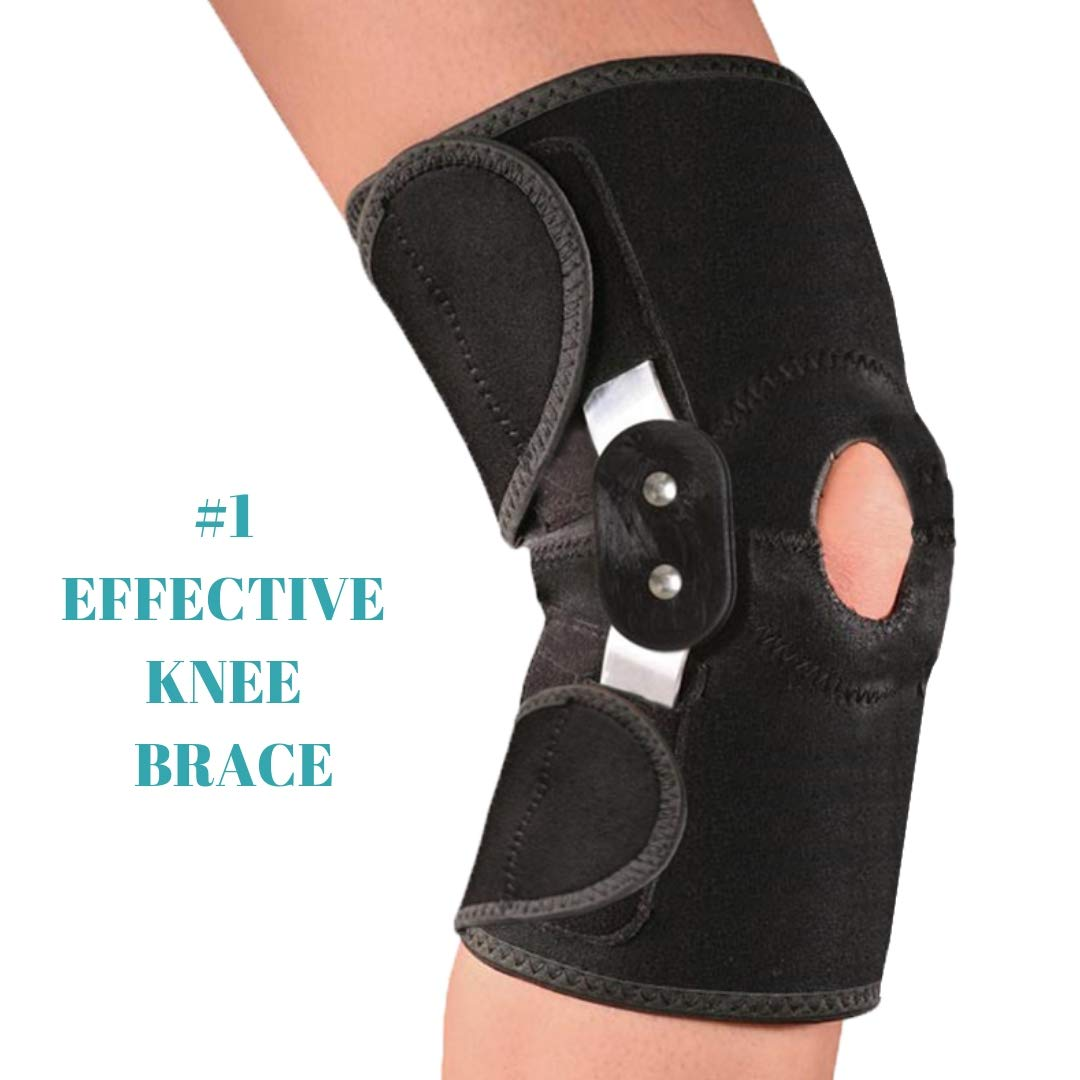 f5d75f31a1 Amazon.com: MEDIZED Adjustable Double Metal and Hinged Knee Brace Support  Protection Arthritis Sports Injury Open Patella Gym Basketball Running  Jogging ...
