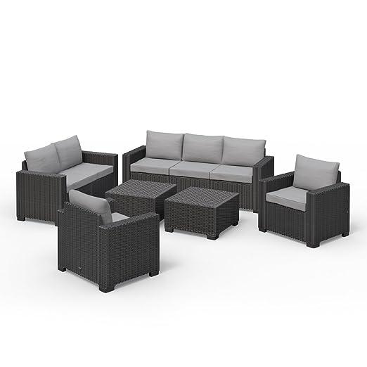 Mobili Da Giardino Polyrattan.Allibert California Lounge Set Mobili Da Giardino In Polyrattan