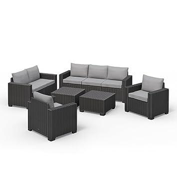 Allibert California Lounge Set Muebles de Jardín Ratán. Asiento ...