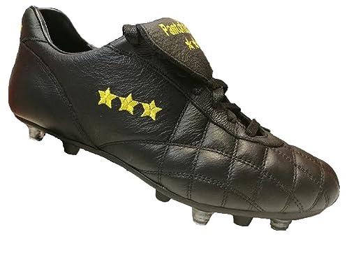 Pantofola d'Oro Scarpa da Calcio del Duca in Vitello, Linguetta Lunga, Fondo Misto (PC2384-07N) (43.5,…