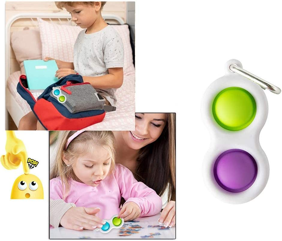 2pcs Simple Fidget Dimple Toy Silicone Flipping Board Toy,Stress Relief Sensory Hand Toy,Sensory Toy Toddler Early Educational Toy,Brain Development Toy,Mini Fidget Toy for Kids Adults