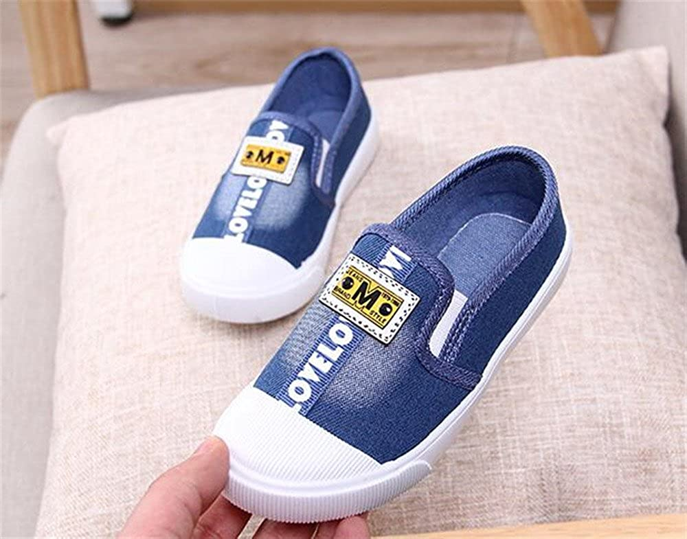 LYLIFE Toddler Boys Girls Fashion Casual Slip-on Loafers Classic Sneakers Blue-27//10 M US Toddler