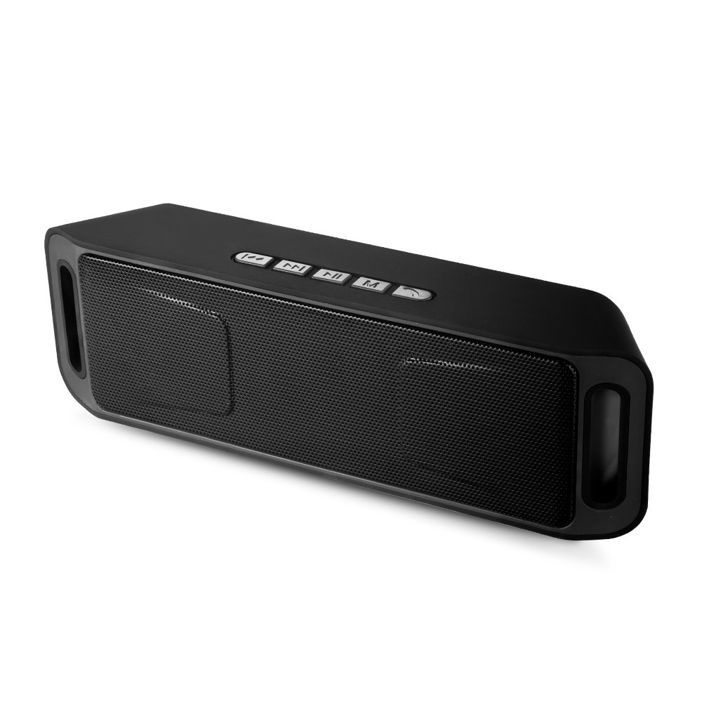 Portable Bass Dual Stereo Speaker Wireless Bluetooth Speaker Support Handsfree AUX USB TF Card Mic for iPhone /iPad/Phones/Tablet/Computer (Black) by SUOKO (Image #1)