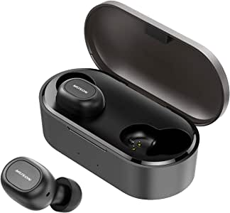 True Wireless Earbuds, MUSON Move Bluetooth 5.0 Earphones with Total 35H Playtime Stereo Sound, Built-in Mic in-Ear Headphone with Portable Charging Case, One-Step Pairing