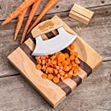 Lehmans Curved Blade Chopper - Knife and Bowl Set Knife and Bowl Set