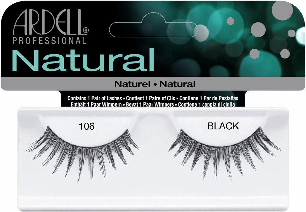a67d9e85035 Amazon.com : Ardell Fashion Lashes False Eyelashes - #106 Black (Pack of 6)  : Beauty