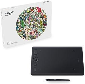 Wacom Intuos Pro Digital Graphic Drawing Tablet for Mac or PC, Medium, (PTH660) New Model, Black