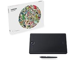 Wacom PTH660 Intuos Pro Digital Graphic Drawing Tablet for Mac or PC, Medium, New Model, Black