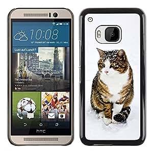 Be Good Phone Accessory // Dura Cáscara cubierta Protectora Caso Carcasa Funda de Protección para HTC One M9 // Cute Snow Cat