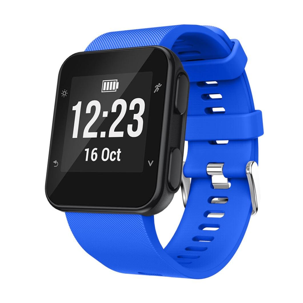morrivoe Smartwatch Fitnessリストバンドfor Garmin Forerunner 35 Watch、ソフトシリコンスポーツ交換ストラップブレスレットリストバンドfor Garmin Forerunner 35 Watch  ブルー B07C8LM319