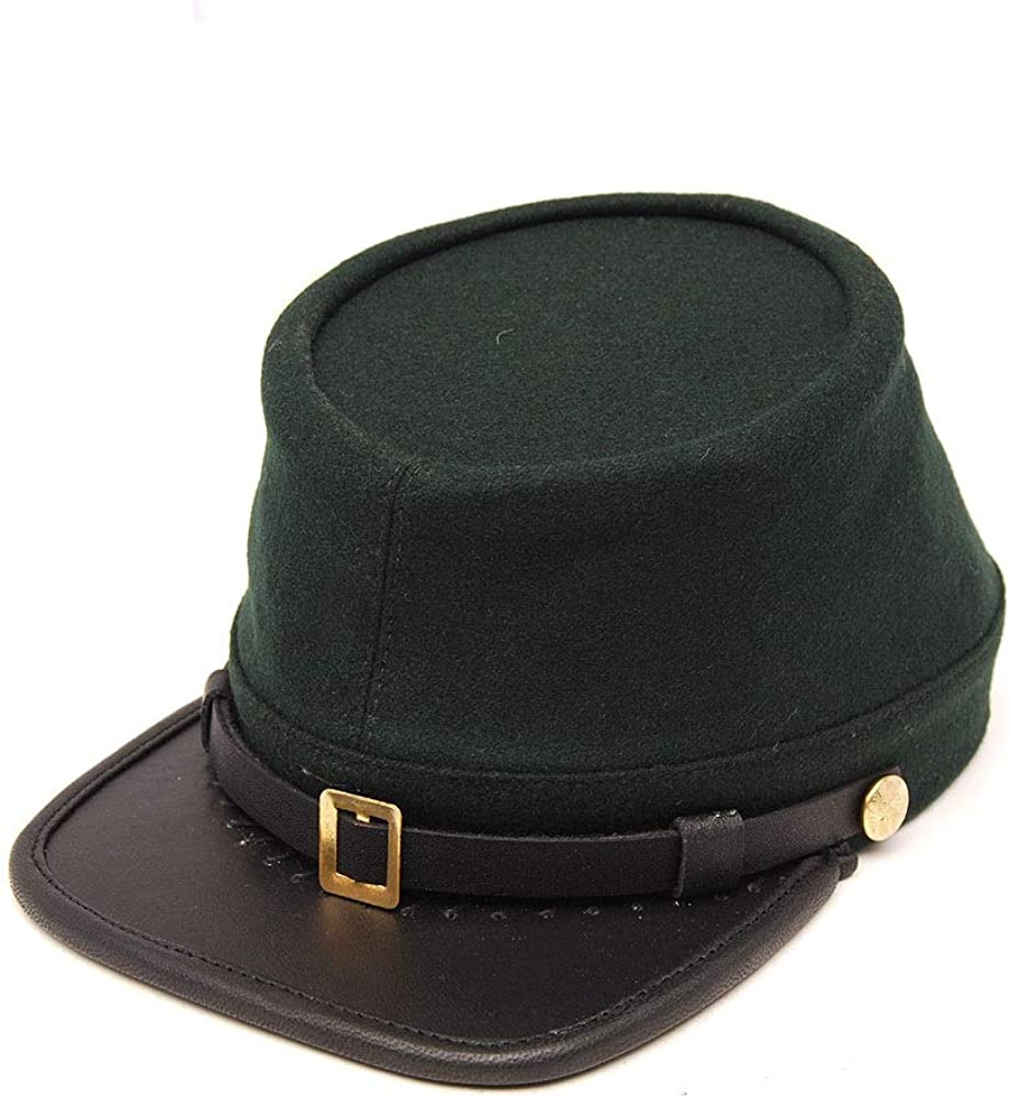 American Civil War Union Green Leather Peak Berdans Sharpshooters Kepi