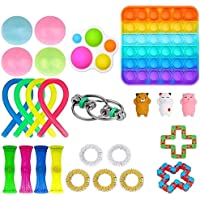 KKPLZZ 25pcs Sensory Toy Set Fidget Toys, Relieves Stress And Anxiety Squeeze Fidget Hand Toys,with Simple Dimple…