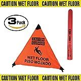 3 Sided Wet Floor Sign English/Spanish 3